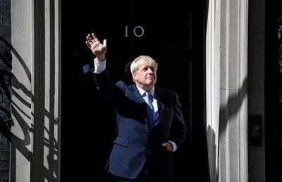 Johnson, de 55 años, pronunció un discurso inaugural a las puertas de la que es ya es su residencia oficial, el 10 de Downing Street.
