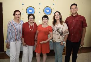 24072019 BABY SHOWER.  Familiares acompañan a Oliva Richards Rodríguez en su fiesta de canastilla, la cual le organizó Lupita Richards.