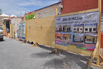 Socialización de la obra de remodelación de fachadas. Se invierten ocho millones de pesos en la fase final del hermoseamiento del Paseo Independencia, que se espera quede terminado en octubre.