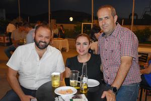 26072019 ANIVERSARIO FUERZAPYMES.  Luis, Daniela y Guillermo.