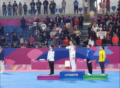 En actividad que se realizó en la Villa Deportiva El Callao, Fregoso terminó con una puntuación de 7.660 para subir a lo más alto del podio y que el himno nacional de su país se escuchara por primera vez.