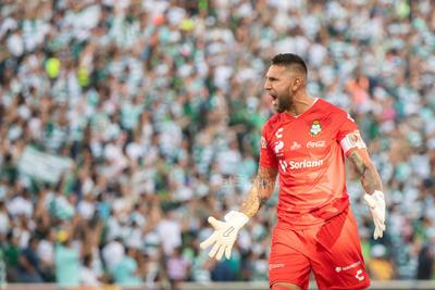 festejo de gol Jonathan Orozco  Jonathan Emmanuel Orozco Domínguez #1 Portero Santos  Santos vs FC  juego correspondiente a la jornada 3 de la apertura 2019 de la Liga MX en TSM Oficial - Sunday 28 de July de 2019 18:45h