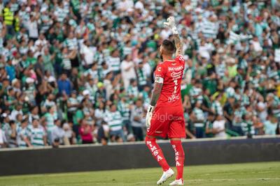 festejo gol Jonathan Orozco  Jonathan Emmanuel Orozco Domínguez #1 Portero Santos  Santos vs FC  juego correspondiente a la jornada 3 de la apertura 2019 de la Liga MX en TSM Oficial - Sunday 28 de July de 2019 18:45h