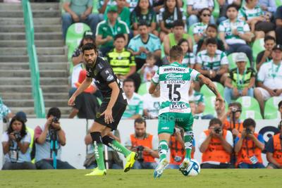 Brian Lozano  Brian Avelino Lozano Aparicio #15 Medio Santos  Santos vs FC  juego correspondiente a la jornada 3 de la apertura 2019 de la Liga MX en TSM Oficial - Sunday 28 de July de 2019 18:45h