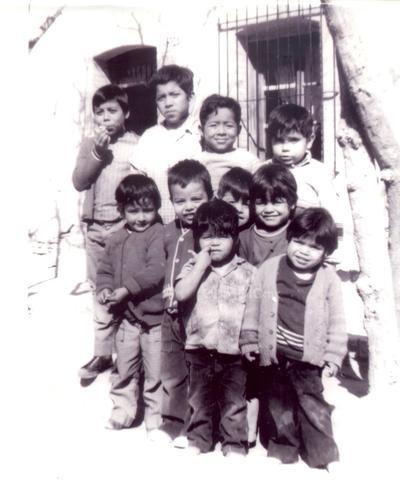 Tomás Zataráin, Álvaro Mireles, Esteban Mireles, David Rubio, Miguel Niño, Héctor Zataráin, Leonides Chacón, Luis Chacón, Juan Chacón, Ernesto Chacón. Foto tomada en los años 70's.