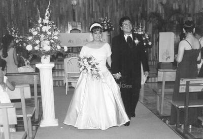 Raúl García Espinoza y Sandra Lorena Arreola Franco, el día 14 de agosto de 1999.