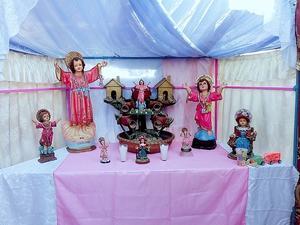 28072019 TRADICIóN FAMILIAR.  La Familia García Trujillo celebra en agradecimiento al Santo Divino Niño Jesús por tradición.