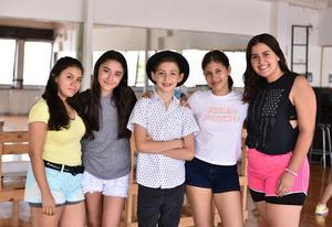 30072019 Rocío, Daniela, Danés, Sofía e Isabel.