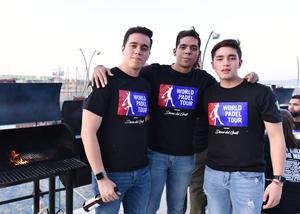31072019 Misael Mejía, Salvador García y Kris Mejía.