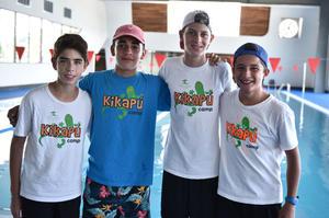 31072019 VACACIONES EN EL CAMP.  Adib, Sebastián, Youp y Luis Jorge.
