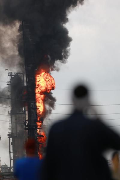 En el área ha habido grandes incendios en lo que va del año que también involucran a otras compañías petroquímicas.
