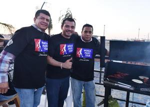 02082019 PARRILLADA.  Ricardo, Jonathan y Alejandro.