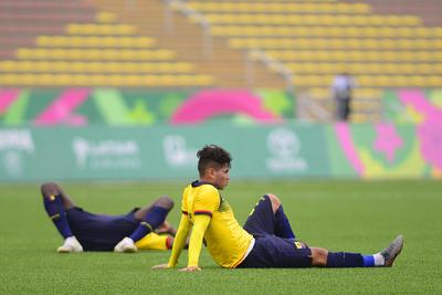 _JLM1068 copy  LIMA, PERU - AGOSTO 4: Atletas de Ecuador en lamento en festejo de la disciplina de Futbol Soccer durante los XVIII Juegos Panamericanos Lima 2019 en el Estadio San Marcos el 4 de Agosto de 2019 enLima, Peru (Foto: Jaime Lopez/JAM MEDIA)