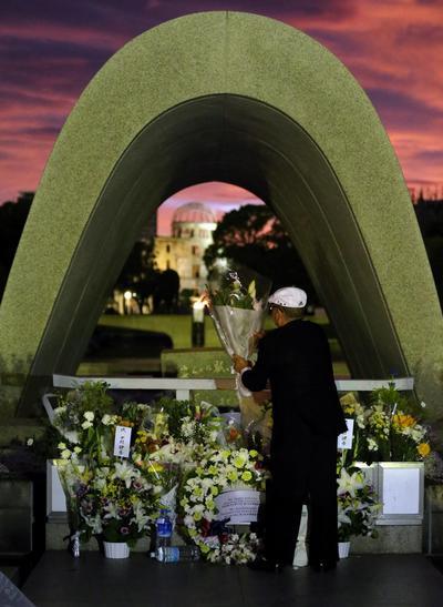 También acudieron sobrevivientes del bombardeo, conocidos como hibakusha.