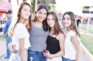 Fernanda Sada, Mariel Mesta, Mariana Torres y Valeria Ramos.