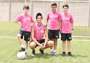 Eduardo Salsamendi, Andrés Obeso, Santiago de la Cruz y Bruno Meza