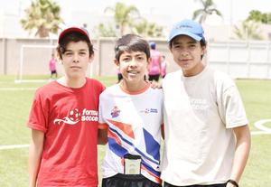 Luis Durán, Sebastián Oliveras y Ernesto Lesprón