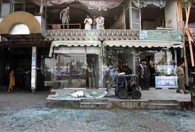 La explosión causó afectaciones en edificios cercanos.