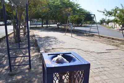 Área familiar. Esta pequeña plaza ubicada en el lugar es uno de los espacios respetados, pero el paso peatonal no está en las mejores condiciones.