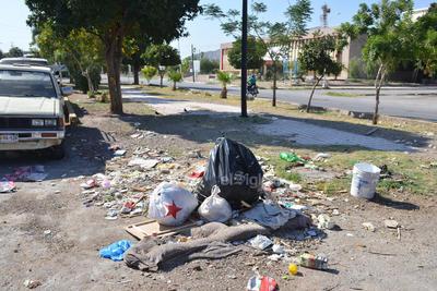 Desperdicio. Así como en esta imagen, es posible encontrar otros cúmulos de basura esparcidos en el paseo peatonal de la Colón.