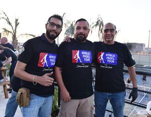08082019 PARRILLADA.  Gerardo García, Ricardo del Rivero y Cipriano García.