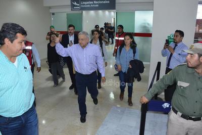 El presidente Andrés Manuel López Obrador estuvo momentáneamente en Torreón.