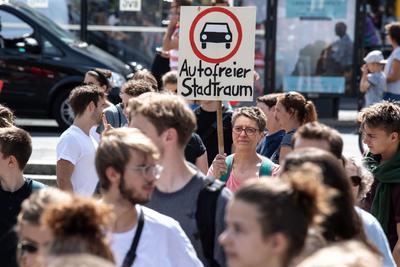 En Berlín, salieron a las calles para abogar por el medio ambiente.