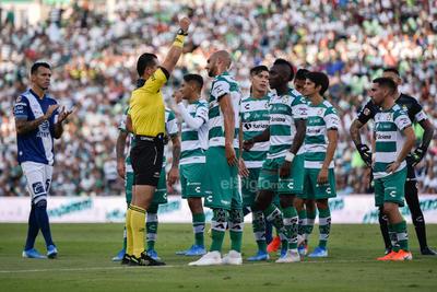 Doria expulsado  Santos vs Puebla  juego correspondiente a la jornada 4 de la apertura 2019 de la Liga MX en TSM Oficial - domingo 11 de agosto de 2019 18:45h  Guerreros, Liga MX, Santos, Santos Laguna