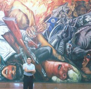 18082019 VIAJERO.  Miguel Gómez Chavero de visita en Bellas Artes en CDMX.