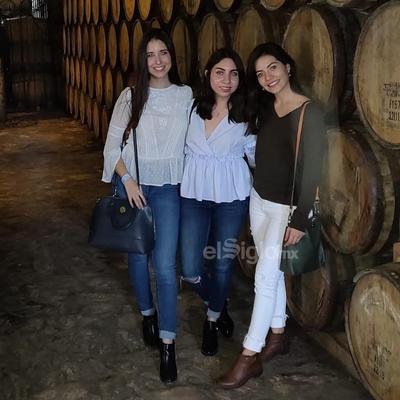 Andrea, Ana y Farah visitando Parras.