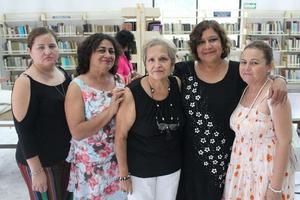 23082019 Irma Pesqueira Leyva, María Antonieta Ávila Lamas, Irma Leyva Ramos, Bertha Alicia Martínez, Claudia Ávila Lamas.