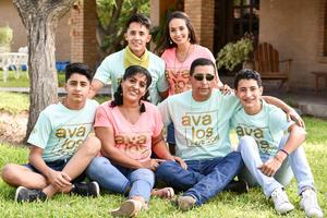 26082019 CONVENCIóN FAMILIAR.  César Iván, Macarena, Gibrán, Mati, Rafael y Édgar.