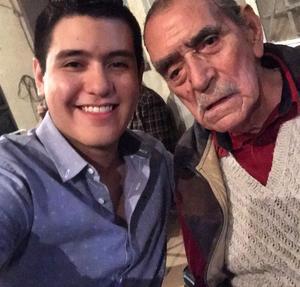 28082019 Emiliano González y su abuelo Sabino González.
