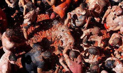 La Tomatina es la batalla hortofrutícola más famosa y replicada del mundo.