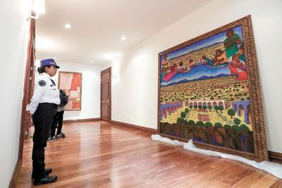 Carlos Molina precisó que todas las obras que se exhiben pertenecen a 1993, excepto