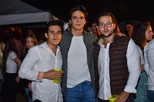 29082019 DISFRUTAN DE UNA FIESTA.  Alan Borrego, Andrés y Borrego.