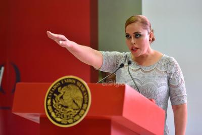 """En su mensaje, Marina Vitela indicó a los gomezpalatinos que """"amor con amor se paga"""" y aseguró que emprenderá la reconstrucción del """"Gómez Palacio que todos anhelamos""""."""