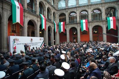 El presidente de México, Andrés Manuel López Obrador, rindió este domingo su Informe de Gobierno al pueblo de México, en el Patio de Honor de Palacio Nacional.