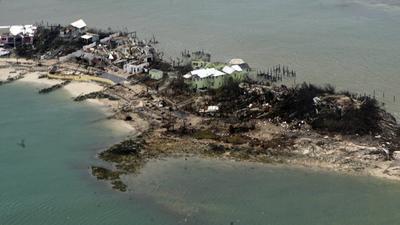El norte de las Bahamas fue el más afectado.