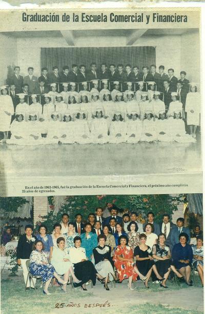 Generación 62- 65 de la Esc. Comercial y Financiera, cumplen 54 años de egresados.