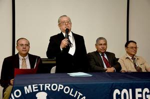 01092019 Integrantes del presidium, Dr. Carlos Acevedo, Dr. Armando De Pablos Gómez, Dr. José Daniel Enríquez Macías y Dr. Claudio Argote Olivera.
