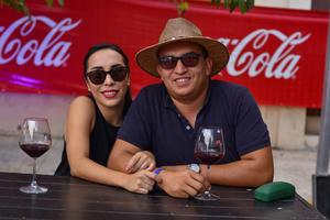 04092019 PABELLóN DEL VINO.  Violeta Vallejo y Sergio Lucio.