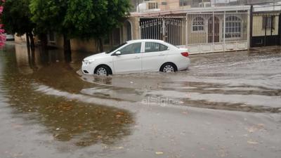 La colonia Fuentes del Sur siempre es una de las más afectadas por las precipitaciones.