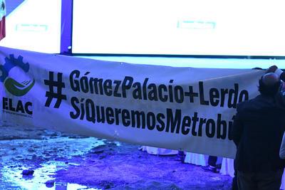 Empresarios de Lerdo manifestaron su apoyo al Metrobús en Gómez Palacio y Lerdo.