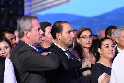 En el informe estuvo presente el líder nacional del PAN, Marko Cortés.