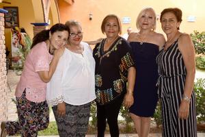05092019 AMIGAS DE SECUNDARIA SE REúNEN.  Sara, Mayela, Patricia, Irma y Paty.