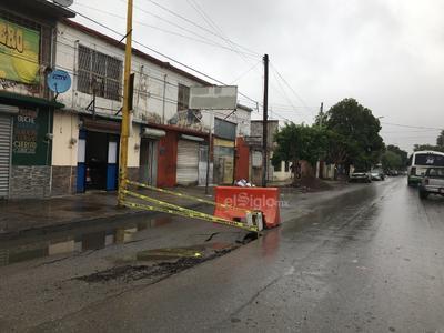 Afectaciones lluvias. Encharcamientos bulevar Francisco Villa