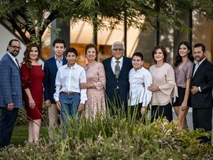 06092019 BODAS DE ORO.  Julio I. Enríquez del Río y Alejandra Martínez de Enríquez en compañía de sus hijos y nietos.