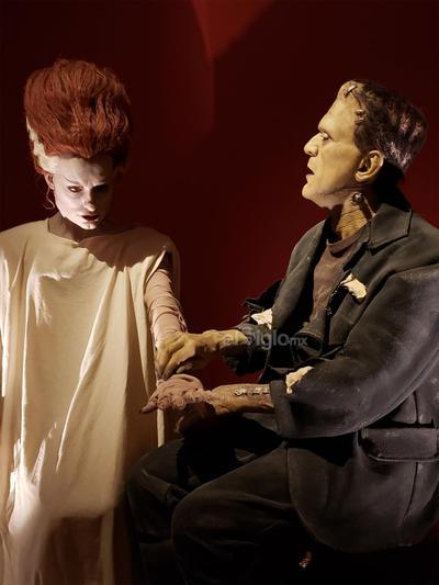 Junto con la mandrágora del Laberinto del Fauno está la prótesis que usó Marisa Paredes en El espinazo del diablo y especímenes de laboratorio.