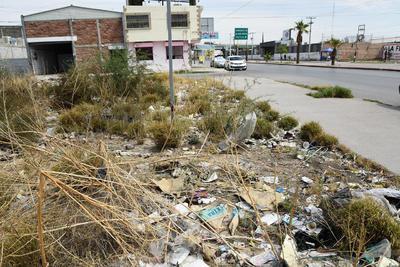 Abandono. Sobre el bulevar Francisco Sarabia son varios los terrenos en estado de abandono que generan problemas a los vecinos.